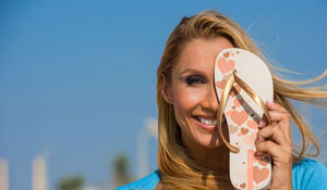 Sandals for the season from Ipanema worth Dhs500