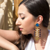 A pair of exclusive hand-made earrings from Juvelista