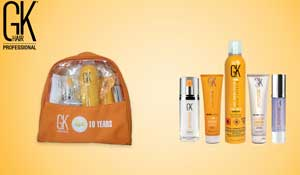 A special goodie bag of professional hair care products from GKhair
