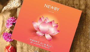 Luxury Newby Teas' Diwali Silken Pyramid Selection Boxes